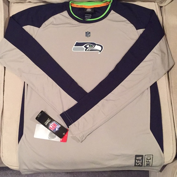 save off baa75 68248 Seattle Seahawks youth long sleeve jersey t shirt NWT